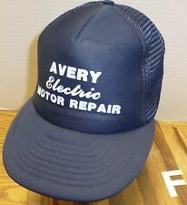 VINTAGE AVERY ELECTRIC MOTOR REPAIR BILLINGS MONTANA TRUCKERS HAT SNAPBACK VGC