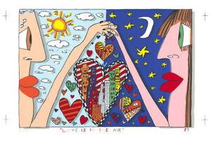 James Rizzi - Love Is In The Air - Farbsiebdruck - handsigniert, datiert