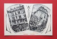Jugendstil AK KARLSBAD in Böhmen um 1910 Parkstrasse mit Haus Excelsior  ( 34939