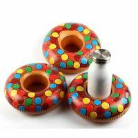 De Topos Donut Inflable Bebida Taza Soporte Caliente Bañera Piscina Playa Fiesta
