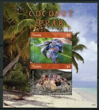 Tuvalu 2018 MNH Coconut Crab 2v S/S Palm Trees Crabs Crustaceans Marine Stamps