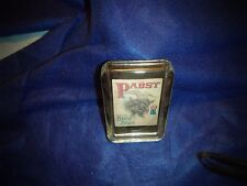 BOCK PABST BLUE RIBBON PAPER WEIGHT GLASS VERY NICE 4 1/4 X2 3/4 X 1 INCH