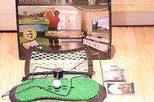 Rara Golf Launchpad Tour eléctrico Spin Simulador Tiger Woods PGA 08 probado PC