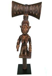Art Africain Tribal - Baton Yorouba ou Shango - Socle sur Mesure - 47 Cms ++++++