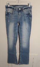Aeropostale Womens Skinny Distressed Jeans 6 Regular Light Wash Designed in NYC