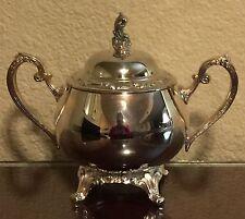 Vintage Oneida Park Lane Silverplated Sugar Bowl & Lid 1970's (#16315)