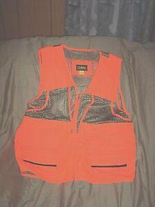 Mens Small Orange Hunting Vest Mesh Vest Game Bird Vest Shell Holder Orange Vest