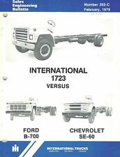 INTERNATIONAL VINTAGE S-SERIES COMPETETIVE COMPARE TRUCK  PRODUCT BULLETIN 1979