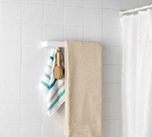 IKEA ENUDDEN Towel Rack w/ 3 Peg Knobs White 302.257.34 BRAND NEW