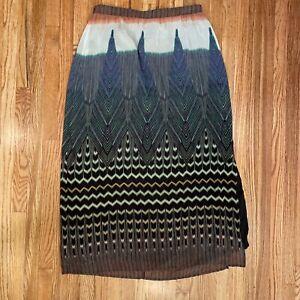 Mauve Anthropologie Peacock Pluma Maxi Skirt Sz Large