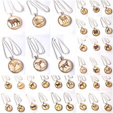 114 Silver Dog Necklaces Glass Casing - Bulk Pricing