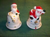 NAPCOWARE Vintage Ceramic SANTA  Salt & Pepper Shakers