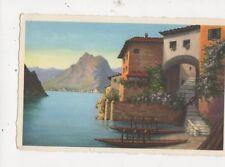 Gandria Motivo del Pittore Serafino Giambonini Vintage Postcard 523a