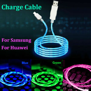 Type-c USB C LED Flowing Light UP Charger Cable for Samsung Huawei Mobile Phones
