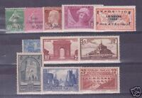 FRANCE STAMP ANNEE COMPLETE 1929 N°253/262 11 TIMBRES NEUFS xx LUXE VALEUR:3033€