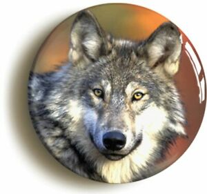 WOLF BADGE BUTTON PIN GIFT