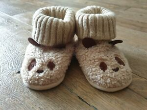 Zara baby bear Slippers Booties home shoes Size 4-5 uk 20/21 new without tags