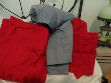 New listing Charter Club King Cotton Supima Sheet Set Excellent Red & Blue Gray