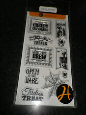 "Hampton Art"" Halloween Witches Brew "" Clear Rubber Stamps SCO734"