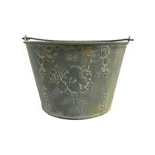6L Vintage Shabby Chic Bouquet Metal Bucket Planter Handmade by AllChic