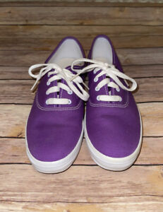 Keds Champion Women's Size 9.5 Shoes Purple/White Low Top Athletic Walk Sneakers