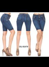 NEw Diva star colombian  2976 blue ue levanta cola high waist bermuda shorts