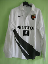 Maillot Rugby Stade Toulousain Vintage Nike Blanc Peugeot Toulouse - L