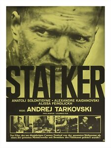 Movie Poster Print STALKER Andrei Tarkovsky Soviet Film Swiss Edition 18x24""