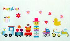 TRAIN HAPPY DAYS NURSERY TOYS WALL STICKER DECAL CHILDREN/KIDS ROOM