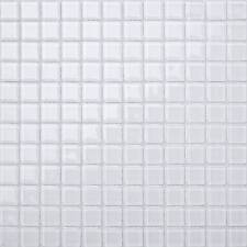 Glass Mosaic Wall Tiles Bright White Bathroom Bath Shower Kitchen Sheet (MT0079)