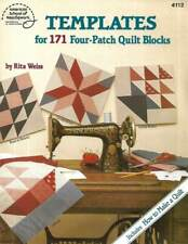 Quilting Templates For 171 Four-Patch Quilt Blocks Includes To Make A Quilt