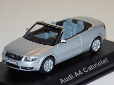 1/43 Minichamps Street Audi A4 Cabriolet in Silver Dealer Edition