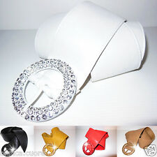 Cintura FUSCIACCA CRISTALLI Bianco Donna bianca FASCIA LARGA CINTURONE D0288