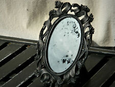 Ornate Antiqued Metal Framed Mirror