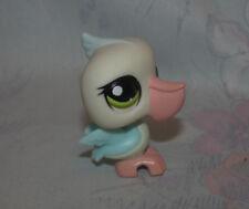 LPS Littlest Pet Shop #1672 Pelican - Light Blue & White, Green Eyes