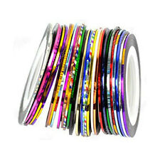 30Pcs Mixed Colors Rolls Striping Tape Line Nail Art Tips Decoration Sticker LW