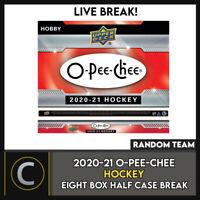 2020-21 O-PEE-CHEE HOCKEY 8 HOBBY BOX (HALF CASE) BREAK #H904 - RANDOM TEAMS