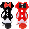 Breathable Mesh Dog Cat Pet Harness and Leash Set Puppy Bow tie Vest S-L
