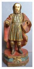 Statuette statue en bois sculpté 18e siècle Goa Pellerin Saint