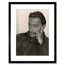 Vintage Photograph Salvador Dali Photo 2 Framed Art Print Poster 9x7 Inch