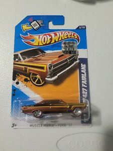 🔥 HOT WHEELS '66 FORD 427 FAIRLANE MUSCLE MANIA FORD '12 RaRe RLC 🔥