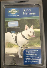 PetSafe 3 In 1 Harness No-Pull Walk Leash Car Safety Padded Black Size Small