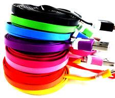 2m Plano Cable cargador Cable de datos Micro USB 2.0 para Sony ROSA