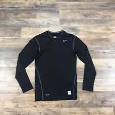 Nike Pro Combat Mens Small Black Long Sleeve Dri Fit Compression Shirt Athletic