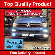 VW T6 TRANSPORTER H11 LED FOG LIGHT BULBS 6000K CANBUS FREE ERROR RESISTORS