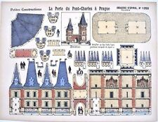 Pellerin Imagerie D'Epinal-#1352 Porte du Pont-Charles Prague Petite paper model
