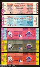 5 1969 WORLD SERIES UNUSED FULL TICKETS NEW YORK MIRACLE METS ALL GAMES + BONUS