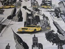 "DEKOSTOFF, JACQUARD "" NEW YORK CITY FREIHEITSSTATUE EMPIRE ""Preis pro Meter"