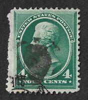 USA: 1882 4c Green JACKSON Good Used CV £25 c$30.00 SG 214 (2015 ed.).