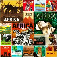 Africa Fridge Magnet Vintage Art Poster Cute Art All City Gift Travel 2 x 3""